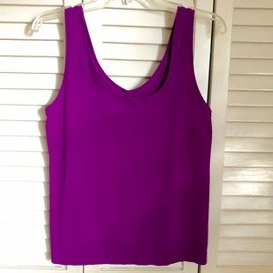 Sleeveless sexy purple (orchid) stretchy tank top